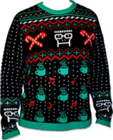descendents black christmas knit sweater sweatshirt - Descendents Christmas Sweater